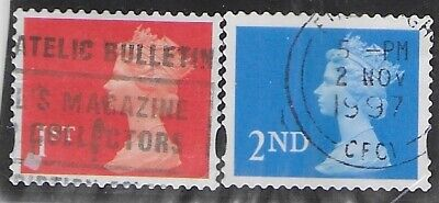 SG 1997 2nd/1st Class Self-adhesive  Coil Stamps  SG 1976/77 -  Fine Used
