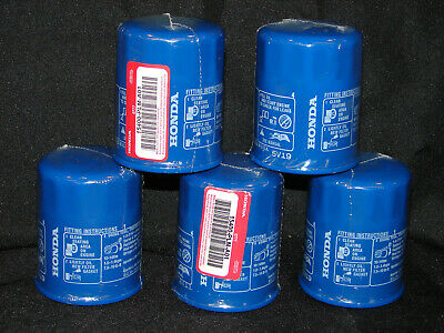 Lot Of 5 New Genuine Honda Acura Oil Filters 15400-Plm-A01  **fast Shipping** ^^
