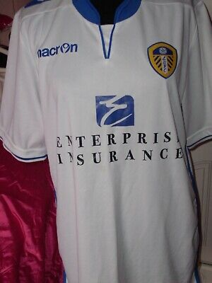 Leeds United FC 2012/13 Football home shirt jersey top Macron Large L  RARE