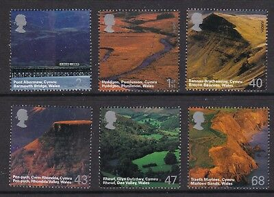 Gb Great Britain 2004 British Journey (Wales) Set Never Hinged Mint