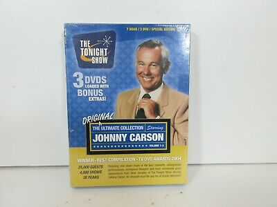 Johnny Carson: The Ultimate Collection (DVD, 2003, 3-Disc Set) New/Sealed