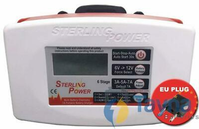 Sterling Power 12V 7A Ultra Portable Batterie Charger E127 - EU PLUG