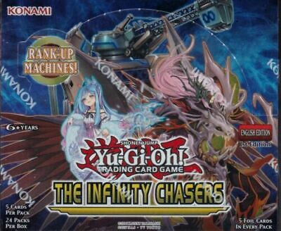 Yu Gi Oh The Infinity Chasers 1St Edition Sealed Booster Box-24 Packs!!