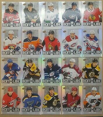 2017-18 Upper Deck Ud Overtime Next In Line Complete Set 1-20