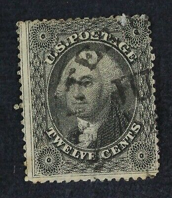 CKStamps: US Stamps Collection Scott#36 12c Washington Used Light Crease Scratch