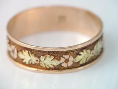 Gorgeous Antique Victorian Very Ornate 10K Gold Wedding Band Ring