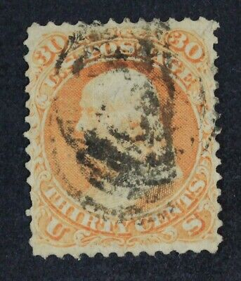 CKStamps: US Stamps Collection Scott#71 30c Franklin Used Spot Thin CV$190