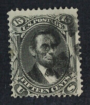 CKStamps: US Stamps Collection Scott#98 15c Lincoln Used Tiny Stain CV$275