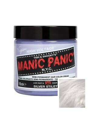 Manic Panic Hair Dye High Voltage Professional Toner 118ml - Stiletto Silver