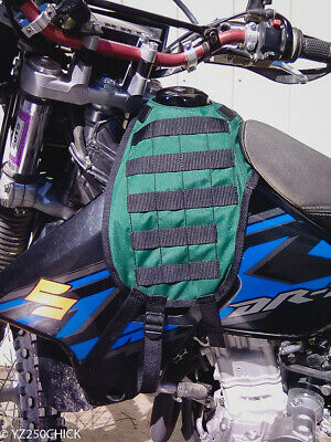 MOLLE Tactical Motorcycle Tank Cover Vest Panel Suzuki DRZ400 bike Hunting USA