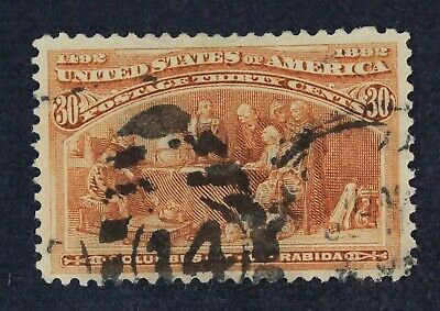 CKStamps: US Stamps Collection Scott#239 30c Columbian Used CV$100