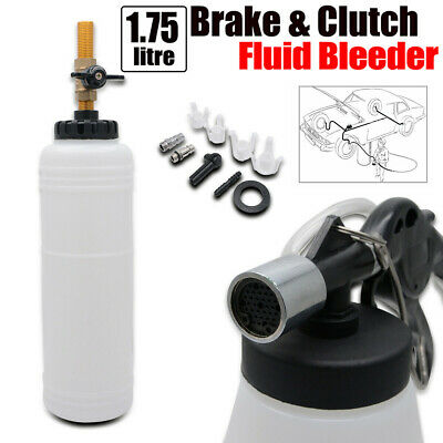 1+0.7L Brake Oil Fluid Bleeder Tool Kit Pneumatic Vacuum Master Cylinder Adapter