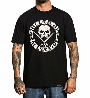 Sullen All Day Badge Mens T Shirt Grey Tattoo MMA UFC MX Skate  SIZE S and XL