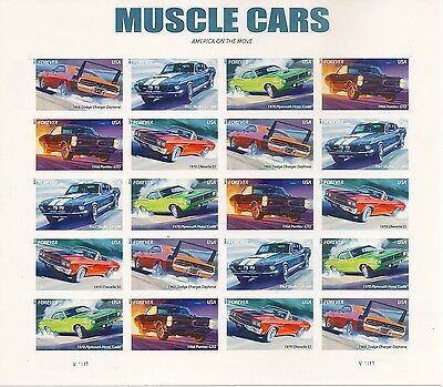 US 4747b Muscle Cars imperf NDC sheet MNH 2013