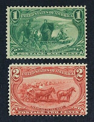 CKStamps: US Stamps Collection Scott#285 Unused NG, #286 Mint H OG Spot Thin