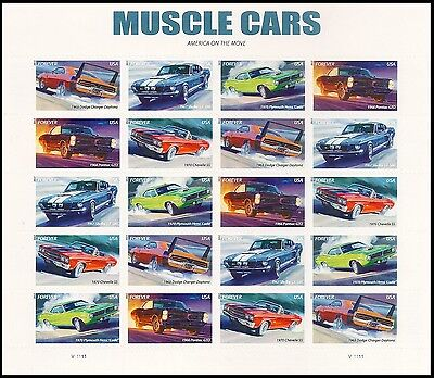 US 4743-4747 4747a Muscle Cars forever sheet V3 MNH 2013