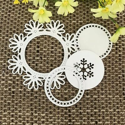 Flowers Ring Cutting Die Set Embossing Stencil Paper DIY Craft Scrapbook Decor
