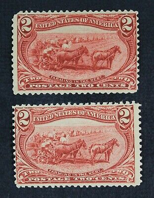CKStamps: US Stamps Collection Scott#286 (2) 2c Mint H OG