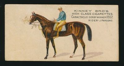 1890 N230 Kinney Brothers FAMOUS RUNNING HORSES (English) -Caractacus