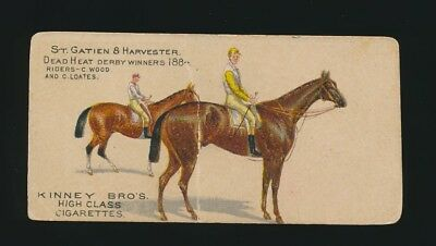 1890 N230 Kinney Brothers FAMOUS RUNNING HORSES (English) -St Gatien & Harvester