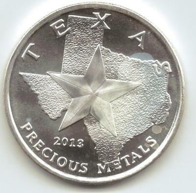 2013 Texas Metal Cowboy/ Horse Style 1-Troy oz. Rounds.9999 Silver