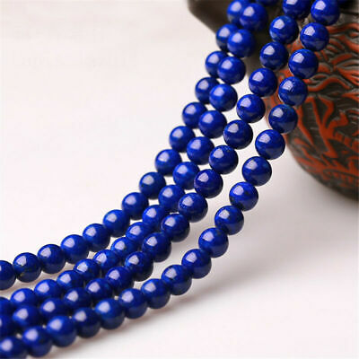 "15"" Natural Lapis lazuli Gemstone Round Spacer Loose Beads 4/6/8/10/12/14mm Gift"