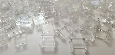 New Lego X25 pieces 1x2x2 Trans Transparent Clear wall panel window glass