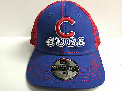 a968ef4e8e402 TODDLER Chicago Cubs Cap New Era 9Twenty Adjustable Cheerful Pick Mesh Dad  Hat