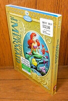 The Little Mermaid w/ Slip Cover (Blu Ray / DVD, 2-Disc Set) Diamond Edition