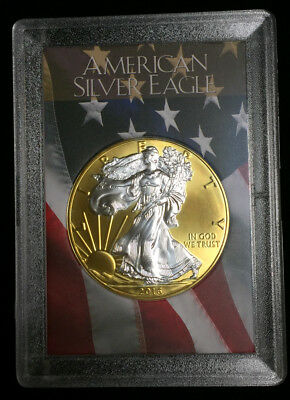 2016 Gilded American Silver Eagle .999 Bullion 1oz Ounce  Free Shipping 24k Gold