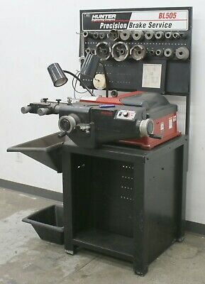 Hunter Engineering BL-505 Brake Lathe w/ Bench and Complete Adapter Kit