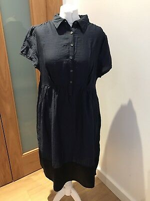 27f6ca922af Gorgeous Simply Vera Wang Navy Blue Short Sleeve Dress UK 16 Good Condition