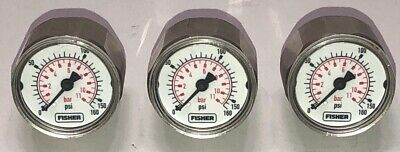 LOT OF THREE (3) Fisher Fieldvue Pressure Gages 0 - 160 PSI For Dvc6030~ New