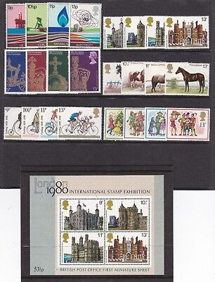 Gb Great Britain 1978 Commemoratives Complete Never Hinged Mint
