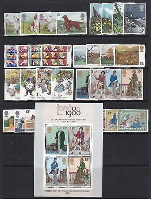 Gb Great Britain 1979 Commemoratives Complete Never Hinged Mint