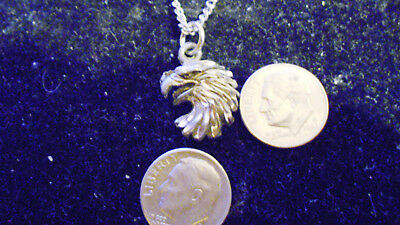 bling SILVER plated bald eagle bird FASHION pendant charm chain necklace JEWELRY