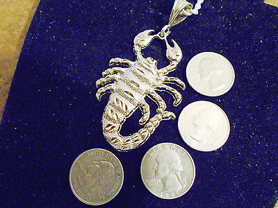 bling silver plated myth big bug scorpion zodiac pendant charm necklace jewelry