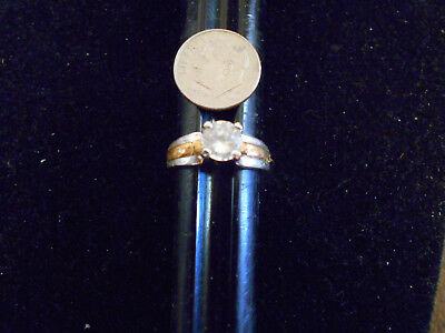 bling gold plated ICED OUT cubic CZ SOLITAIRE FASHION ring hip hop JEWELRY sz 9