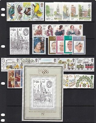 Gb Great Britain 1980 Commemoratives Complete Never Hinged Mint