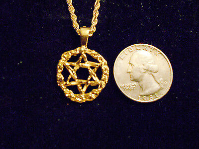 bling gold plated 6 point star myth witch pendant charm necklace fashion jewelry
