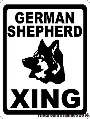 German Shepherd Xing Crossing Sign. w/Options. Gift for Dog Lovers of Shepherds
