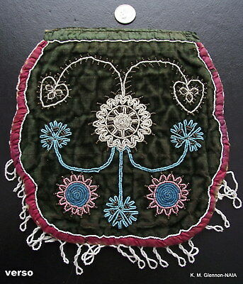 c. 1820-1830 NORTHEASTERN WOODLANDS BEADED FLAT BAG