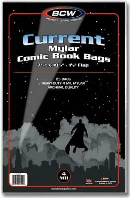Premade Comic Book Protection Bags and Boards -- Pack of 25