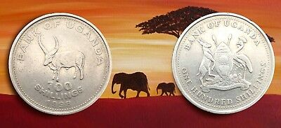 UGANDA :- Post independence 100 shillings circulation coin  dated 1998. AP7329
