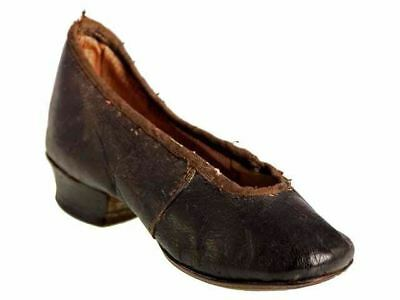 Antique Childs Slipper Shoe ( single) 1840s  Hand Made