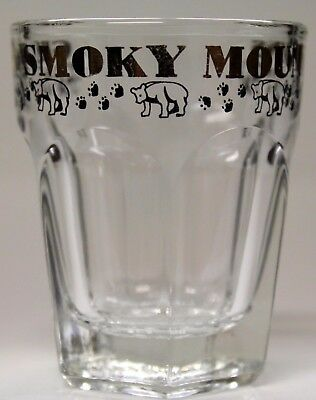 Great Smoky Mountains ~ Shot Glass W/ Bears & Paw Prints Around Top.