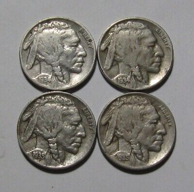1934 PD & 1935 PD Buffalo Nickel - NICE Circulated Condition - 87FR
