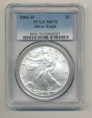 2006-W American Silver Eagle 1 oz Coin PCGS MS 70 Exact Shown