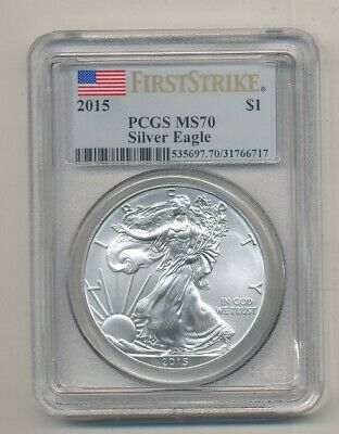 2015 American Silver Eagle 1 oz Coin PCGS MS 70 First Strike Exact Shown