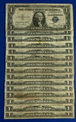 1935D-1957B $1 Blue SILVER Certificates x130 Set of 15 Assorted! Rough Currency